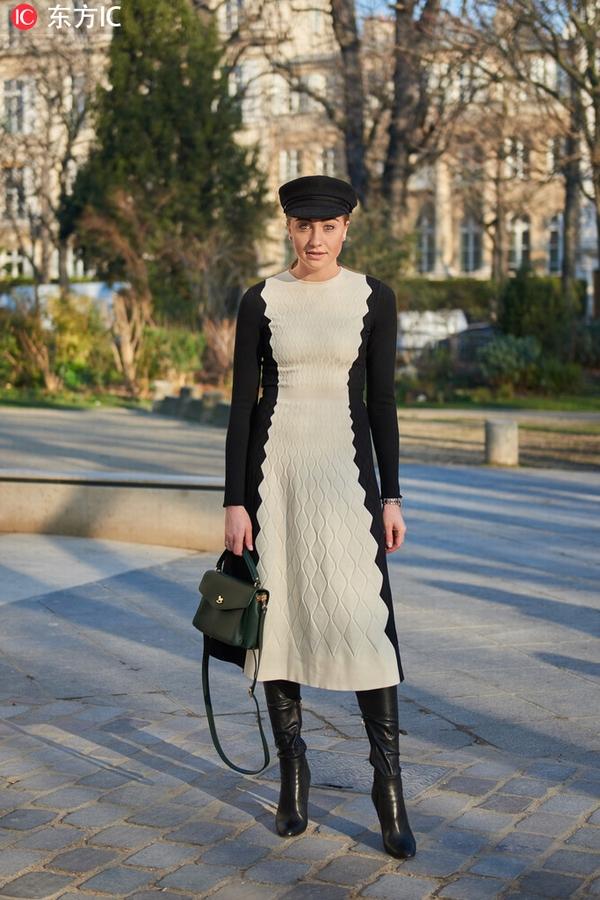 连衣裙+长靴 图片源自东方IC
