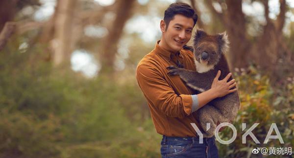 黄晓明为南澳大利亚拍摄宣传大片  图片来自微博@黄晓明