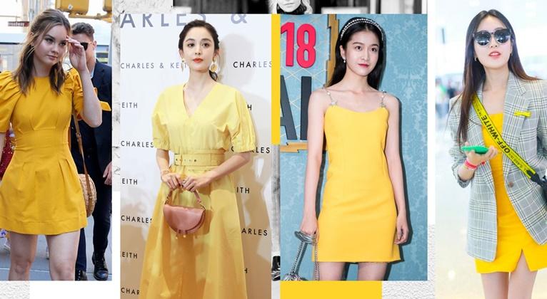 显白又好看?你只缺一条娜扎同款小黄裙!