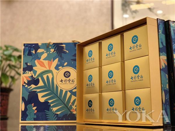 七彩云南滇式月饼九枚装礼盒(图片来源于品牌)