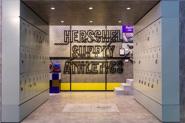 展区中央区域-巨大储物柜 图片来源:品牌提供