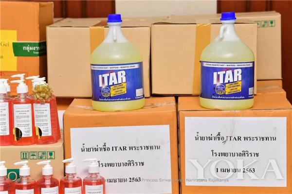 消毒洗手液(圖片來源于Sirivannavari Nariratana facebook)