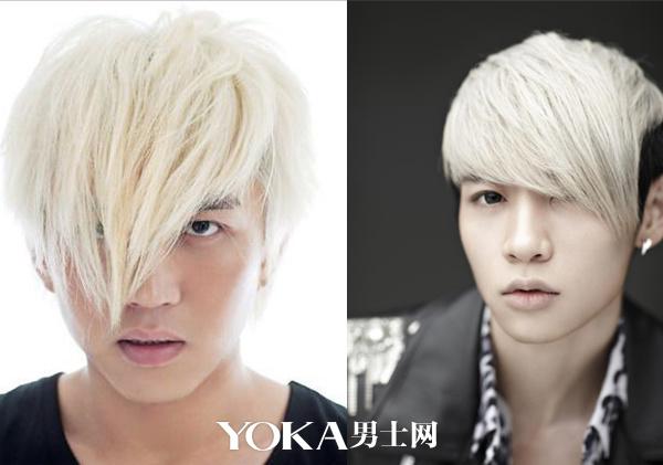 4 漂白发型   白色的发色过于前卫,尤其是肤色暗沉的男士,白发会让你图片