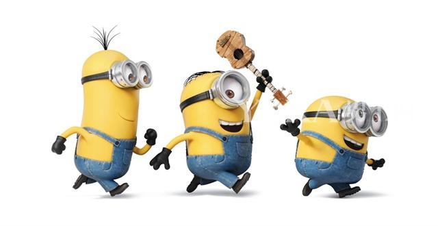 《小黄人大眼萌》三大主角:斯图尔特、凯文及鲍勃。