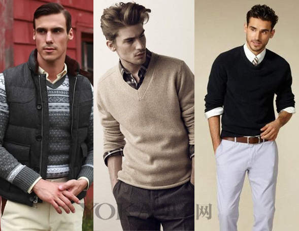 秋天怎能没有针织衫 5种搭配方案让你变潮男