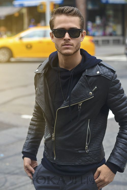 穿上Man感指数爆表 皮夹克的5种穿搭示范