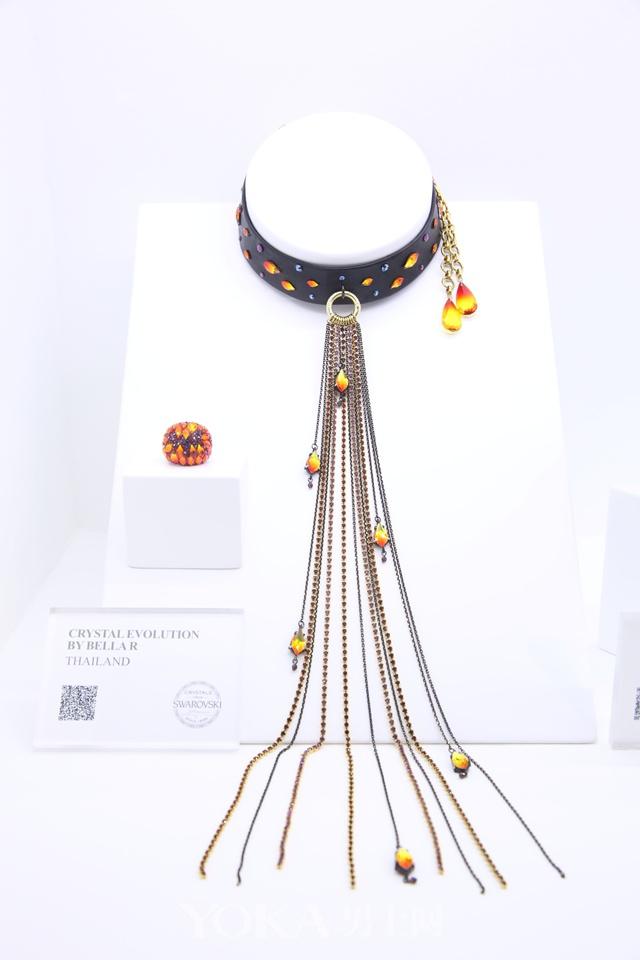 bodysteel & silver项链-采用施华洛世奇元素