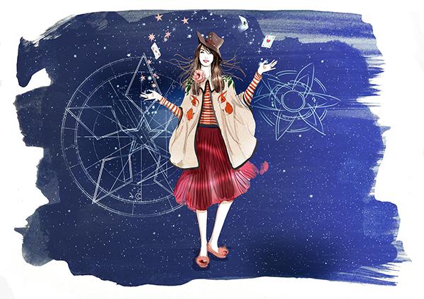 safiya秋冬时尚插画大片 | 星辰谧境的魔幻之旅