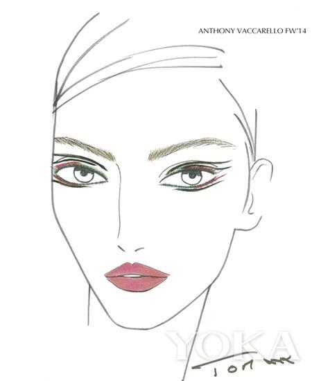 创意彩妆手绘妆面图