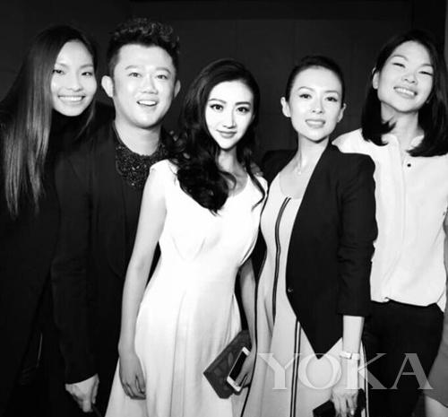 章子怡、景甜、李东田等圈中好友到场支持Comme Moi 2014秋冬服装秀