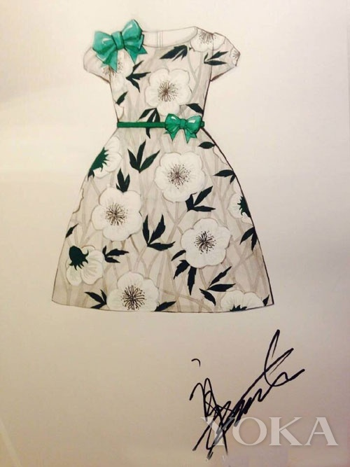 而她晒出自己为ipp设计的童装手稿,更获得网友频频点赞.