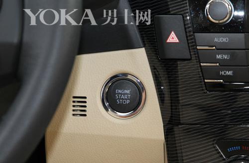 大部分车辆上一键启动的造型和位置