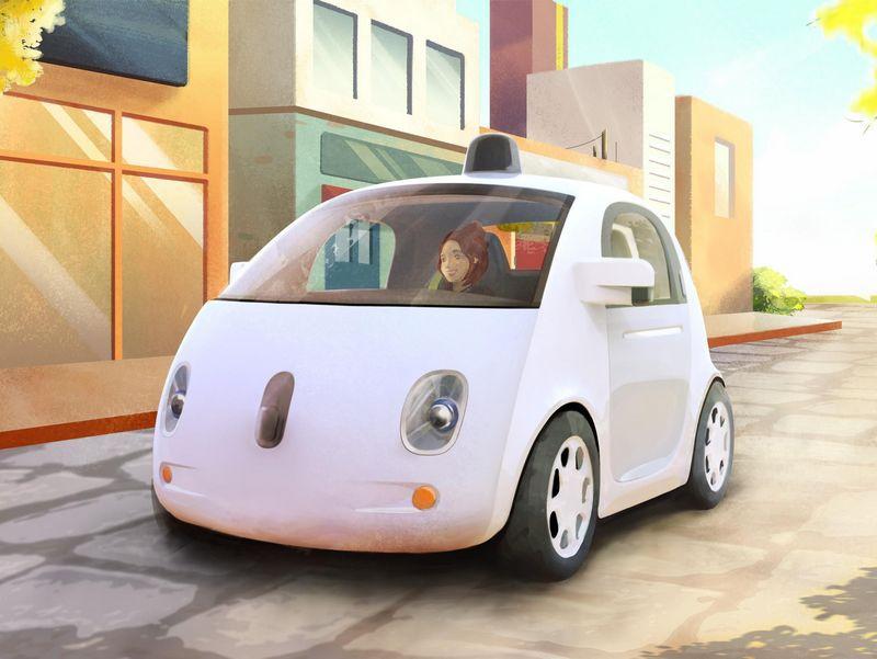 谷歌无人驾驶系统高清图片