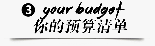 你的预算清单