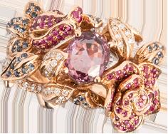 粉宝石戒指