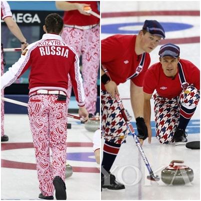 俄罗斯冰球队队服和挪威冰球队队服