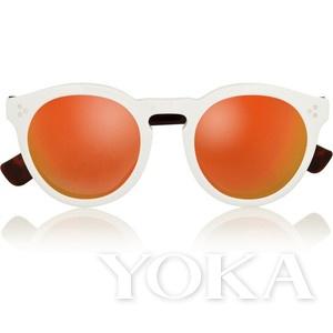 橘色反光墨镜