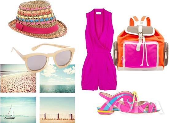 热带风情的度假装扮