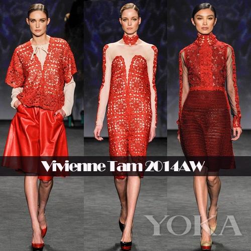 2016红色欧式时装