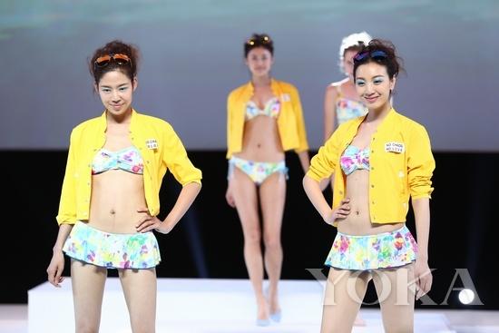 """黛安芬2014春夏""""裸彩""""系列发布会现场"""