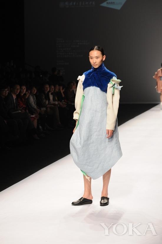 清华美院服装设计专业学生-皮草作品