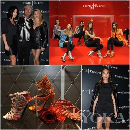 9月17日晚的欢迎派对,众多明星名人身穿Paciotti新品莅临现场