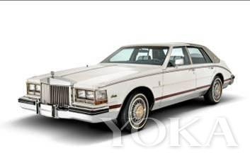 由gucci做内饰的凯迪拉克轿车高清图片
