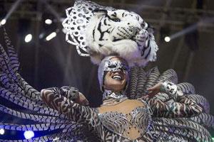 西班牙圣克鲁斯狂欢节表演
