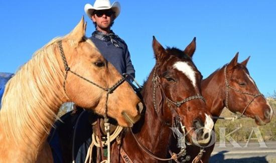 加拿大小伙莱特骑马赴巴西看球