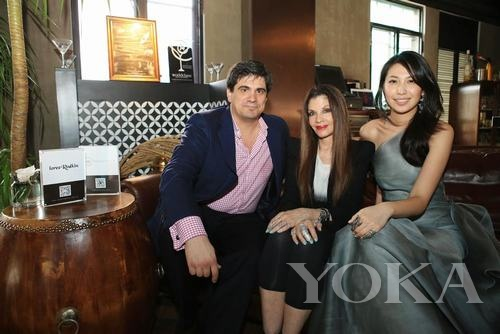 Asian Horizon CEO Ricardo Ferrer, Loree Rodkin, 2012年环球小姐中国区冠军许继丹