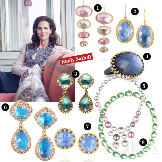 设计师Emily Satloff及所设计的珠宝