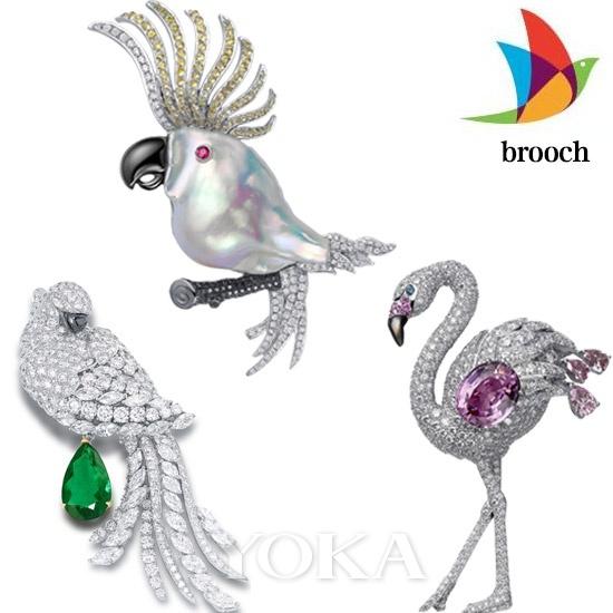 动物王国胸针之优雅鸟