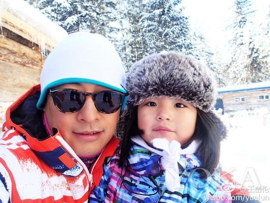 王岳伦和Angela参加《爸爸去哪儿》节目录制