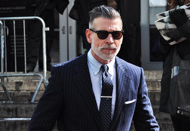 教材穿衣男士NickWooster街拍辑短发显得头发少吗图片